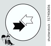 arrow indicates the direction ... | Shutterstock .eps vector #517406836