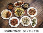 mixed portuguese traditional... | Shutterstock . vector #517413448