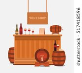 vector illustration of a wine... | Shutterstock .eps vector #517418596