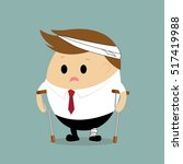 vector of businessman injured... | Shutterstock .eps vector #517419988
