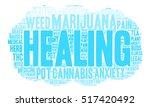 healing marijuana word cloud on ... | Shutterstock .eps vector #517420492