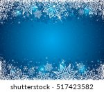 Blue Background With  Frame Of...