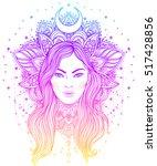 tribal fusion boho diva.... | Shutterstock .eps vector #517428856