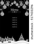 christmas menu design.... | Shutterstock .eps vector #517433296
