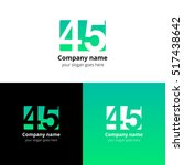 45 logo icon flat and vector... | Shutterstock .eps vector #517438642