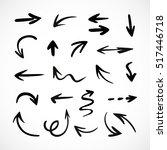 hand drawn arrows  vector set | Shutterstock .eps vector #517446718