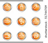 set of 9 glossy web icons  set... | Shutterstock .eps vector #51744709