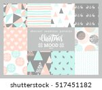 christmas and new year set.... | Shutterstock .eps vector #517451182