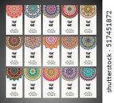 business cards. vintage... | Shutterstock .eps vector #517451872