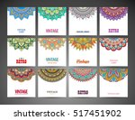 business cards. vintage... | Shutterstock .eps vector #517451902