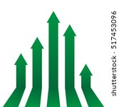 arrows up growth vector | Shutterstock .eps vector #517453096