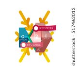 sale christmas tags and... | Shutterstock .eps vector #517462012
