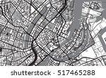 urban city map of copenhagen | Shutterstock .eps vector #517465288