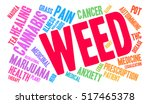 weed word cloud on a white... | Shutterstock .eps vector #517465378