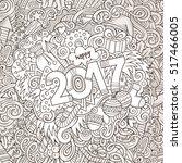 cartoon cute doodles hand drawn ... | Shutterstock .eps vector #517466005