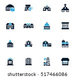 infrastucture of the city icon... | Shutterstock .eps vector #517466086