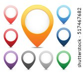 set of map marker pointers... | Shutterstock .eps vector #517467682