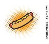 hotdog   Shutterstock .eps vector #51746794