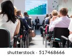 business conference and... | Shutterstock . vector #517468666