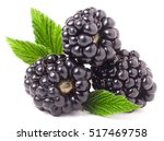 Three Blackberry With Leaf...