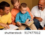 mens small group.  reading ... | Shutterstock . vector #517477012