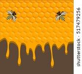 the vector shows beehive honey... | Shutterstock .eps vector #517479256