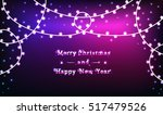garlands on bright christmas... | Shutterstock .eps vector #517479526