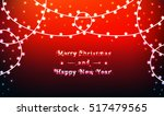 garlands on bright christmas... | Shutterstock .eps vector #517479565