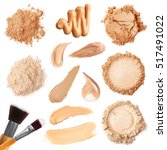 collage of decorative cosmetics ... | Shutterstock . vector #517491022