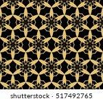 seamless geometry flower... | Shutterstock .eps vector #517492765