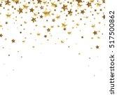 golden falling stars  on a... | Shutterstock . vector #517500862