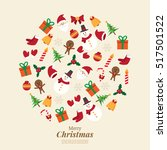 merry christmas. santa claus... | Shutterstock .eps vector #517501522