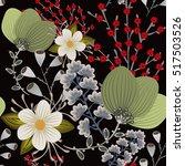 floral seamless pattern. hand...   Shutterstock .eps vector #517503526