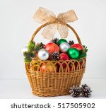 decorative red apples cones... | Shutterstock . vector #517505902