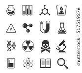 set of chemistry icons. science ... | Shutterstock . vector #517519276