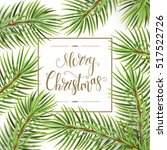 holiday pattern. christmas... | Shutterstock .eps vector #517522726