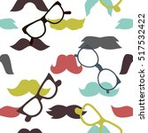 mustaches seamless pattern... | Shutterstock .eps vector #517532422