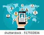 social network  people... | Shutterstock .eps vector #517532836