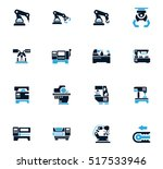 vector machine tool icons set.... | Shutterstock .eps vector #517533946