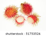rambutan  with a peeled fruit... | Shutterstock . vector #51753526
