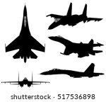 set of military jet fighter...