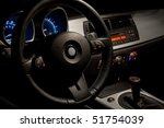 Sports Car Interior With...