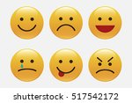 set of emoticons  icon pack ... | Shutterstock .eps vector #517542172