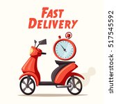 fast and free delivery. vector... | Shutterstock .eps vector #517545592