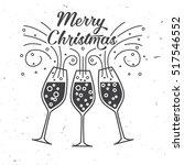happy new year typography.... | Shutterstock .eps vector #517546552