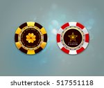 casino chips on the bokeh... | Shutterstock .eps vector #517551118