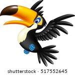 happy toucan flying | Shutterstock .eps vector #517552645
