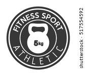 fitness sport athletic... | Shutterstock .eps vector #517554592