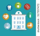 building hospital care service... | Shutterstock .eps vector #517557472