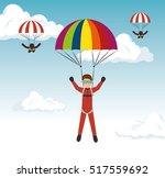 parachutist man extreme sport   Shutterstock .eps vector #517559692